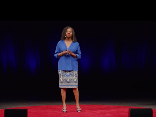 Rosemarie Allen on stage at her Ted Talk