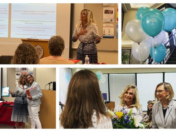 A collection of photos of Marcella Franczkowski at the MATN 25th anniversary Institute