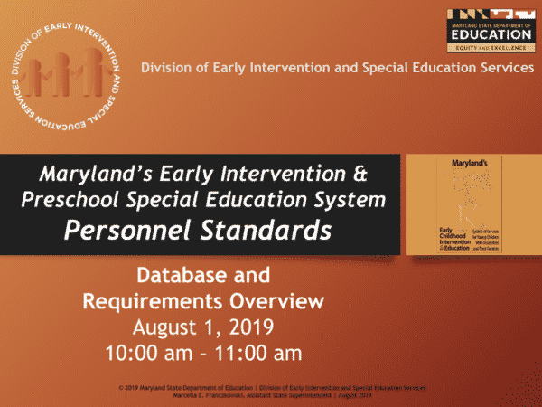 Maryland Personnel Standards presentation cover page