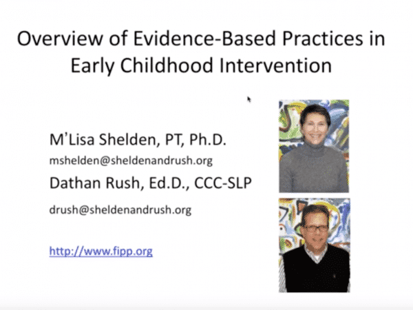Overview of Evidence-Based Practices in Early Childhood Intervention powerpoint title page
