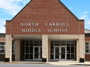Photo of the entrance to North Carroll Middle School